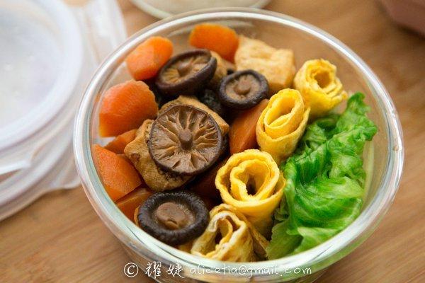 減肥者的美味便當--豆泡素食便當的做法_【圖解 ...