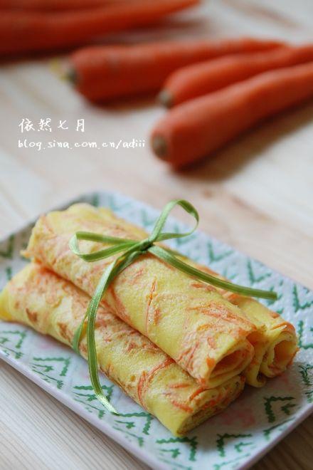 胡萝卜鸡蛋饼的做法_【图解】胡萝卜鸡蛋饼怎么做好吃