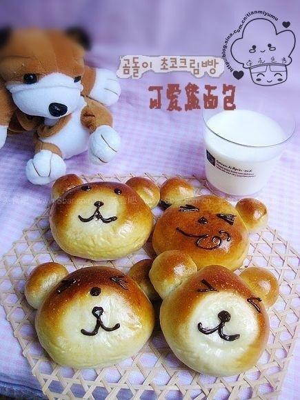 可爱小熊面包的做法步骤