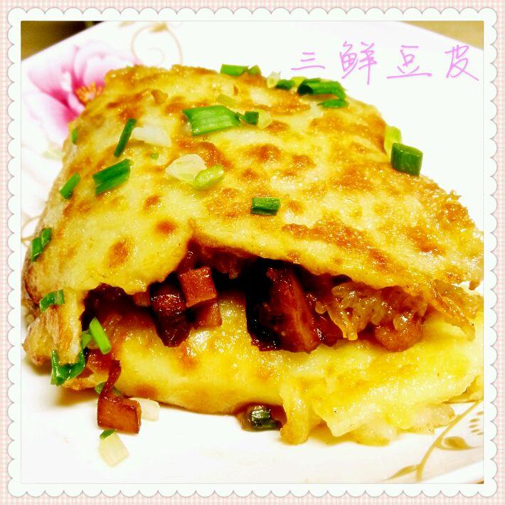 武汉三鲜豆皮的做法 武汉三鲜豆皮怎么做好吃 艳阳满天 家常做法大全