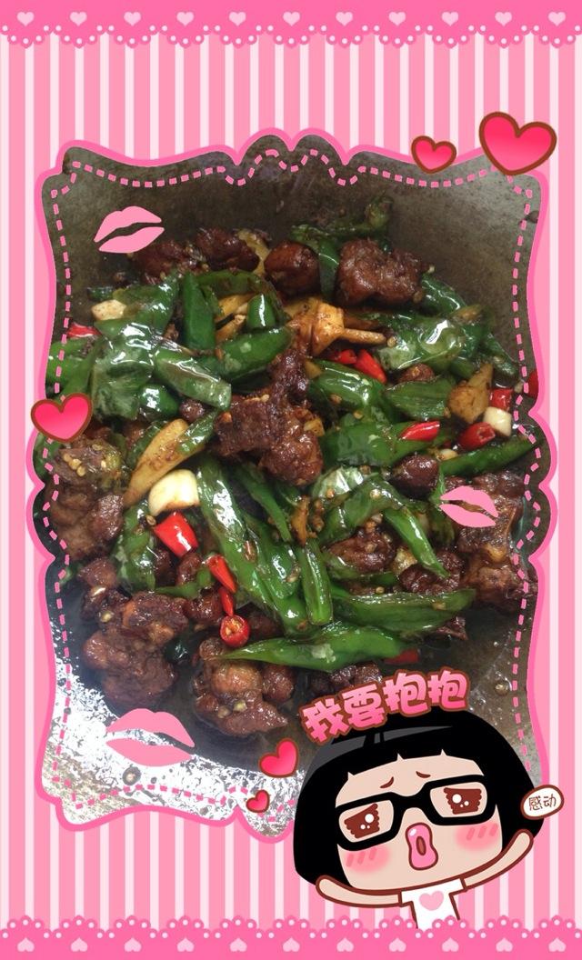 辣椒炒鸭肉的做法步骤