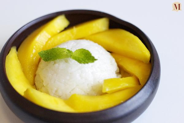 芒果椰汁糯米饭的做法