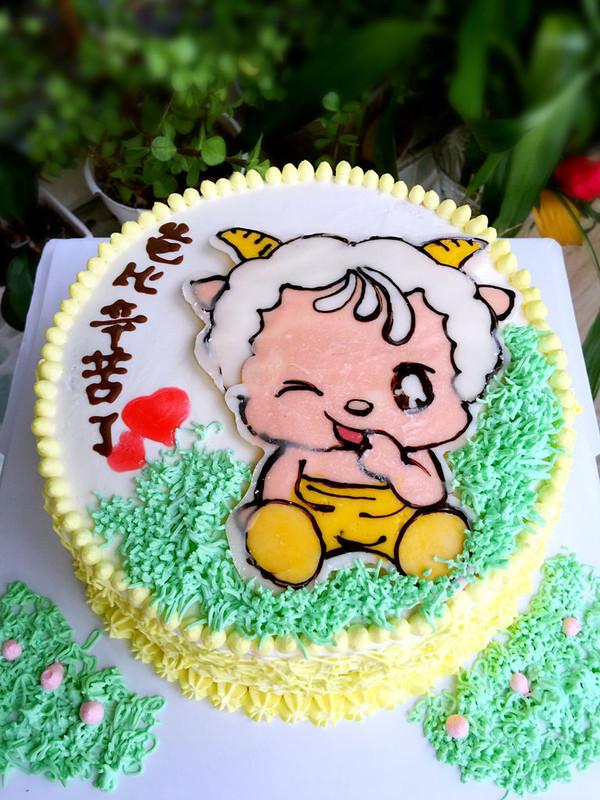木糖醇羊宝宝转印蛋糕