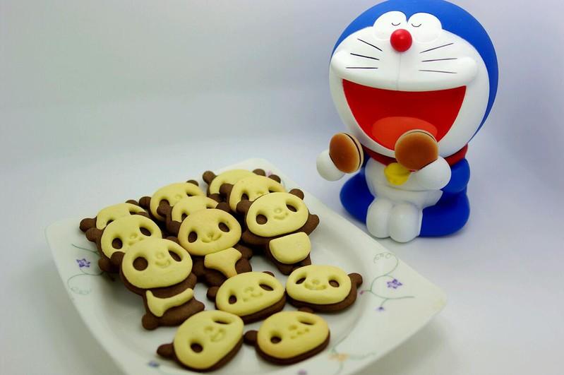 超萌熊猫饼干的做法