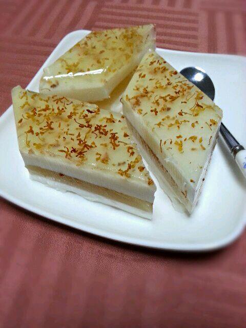 椰汁桂花糕的做法_【图解】椰汁桂花糕怎么做好吃_手