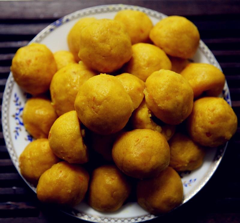 南瓜玉米面窝头(黄金窝头)的做法_【图解】南瓜玉米面