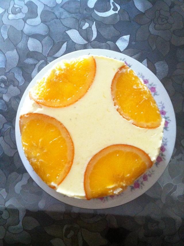 香橙慕斯的做法_六寸香橙慕斯的做法