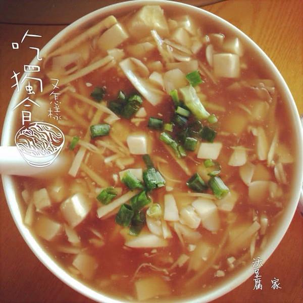 豆腐羹(沃做法)的鸡胸一顿饭吃一整块豆腐图片