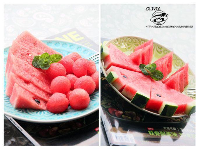 主料 西瓜 西瓜的五种切法的做法步骤 5. 依次切好摆盘食用.