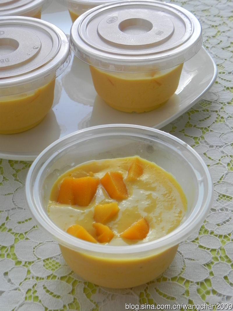 芒果果粒布丁的做法