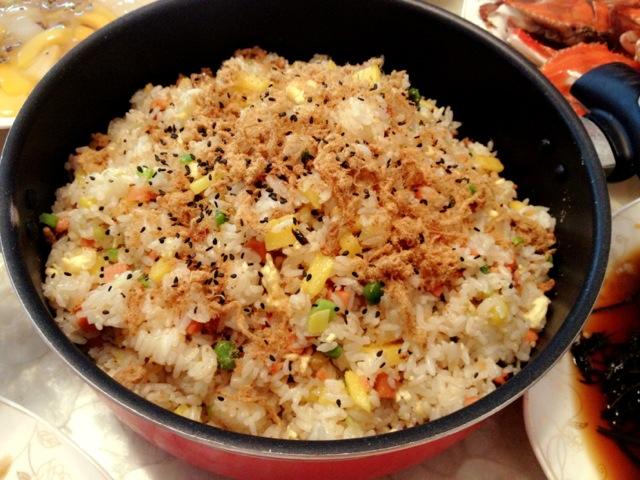 龙虾海鲜炒饭图片
