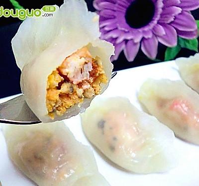 水晶虾饺的做法_【图解】水晶虾饺怎么做好吃_水晶