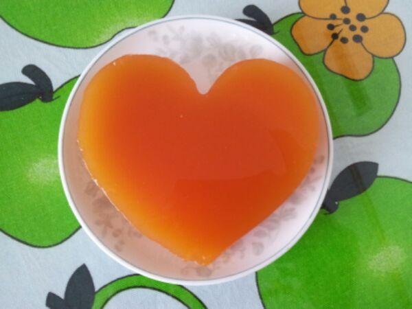 木瓜半个 冰糖适量 纯净水 辅料  琼脂适量 爱心果冻的做法步骤