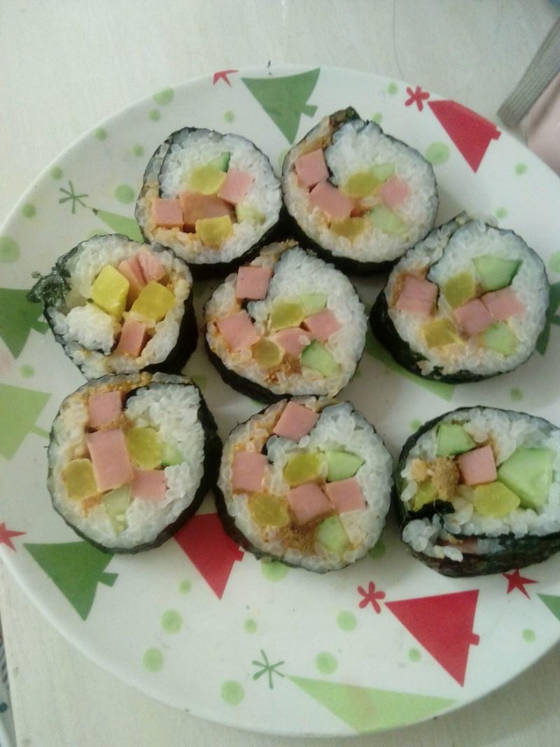 寿司的做法_【图解】寿司怎么做好吃_晴空彩虹和雨