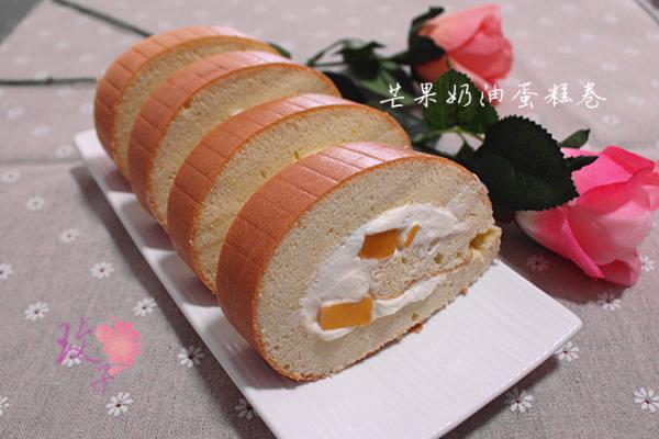 芒果奶油蛋糕卷的做法_【图解】芒果奶油蛋糕卷怎么做