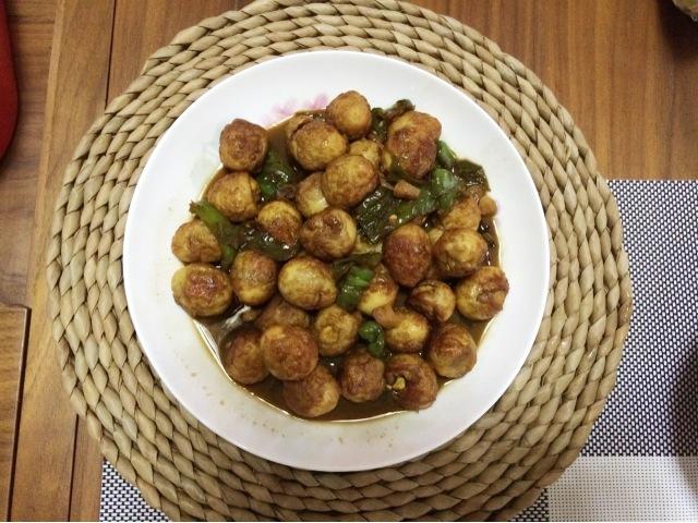 青椒虎皮蛋的做法_【图解】青椒虎皮蛋怎么做好吃_cc