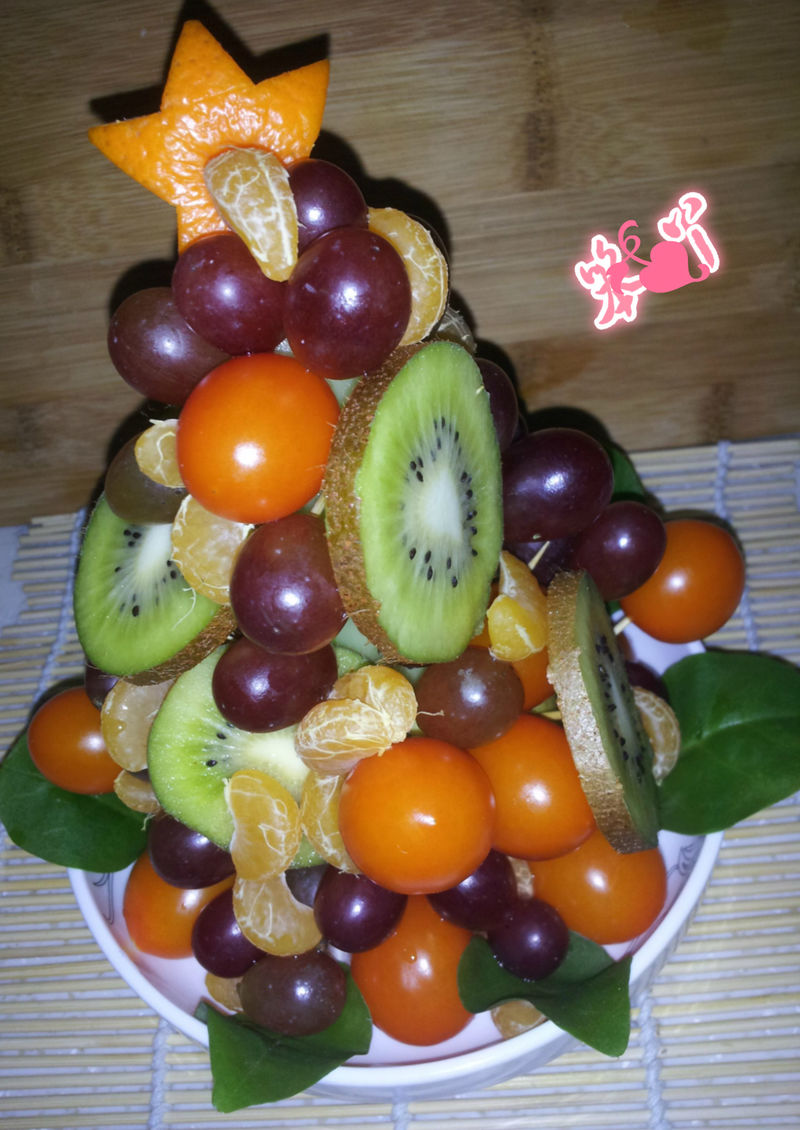 圣诞水果塔的做法_【图解】圣诞水果塔怎么做好吃