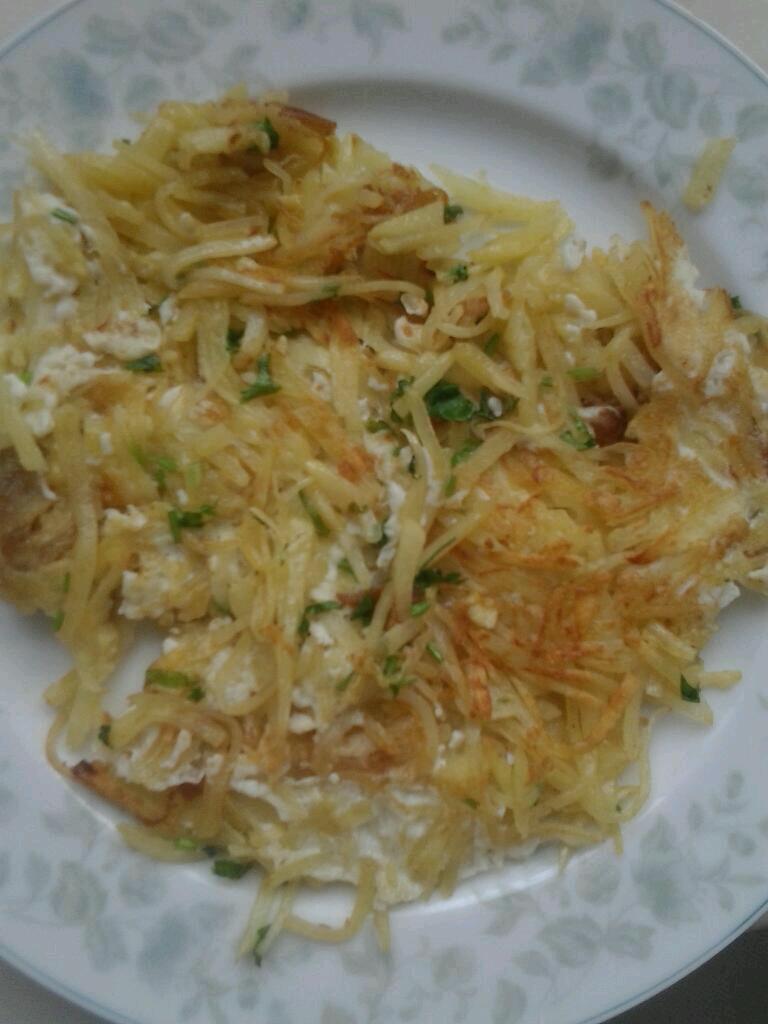 土豆丝煎饼的做法_【图解】土豆丝煎饼怎么做好吃_源