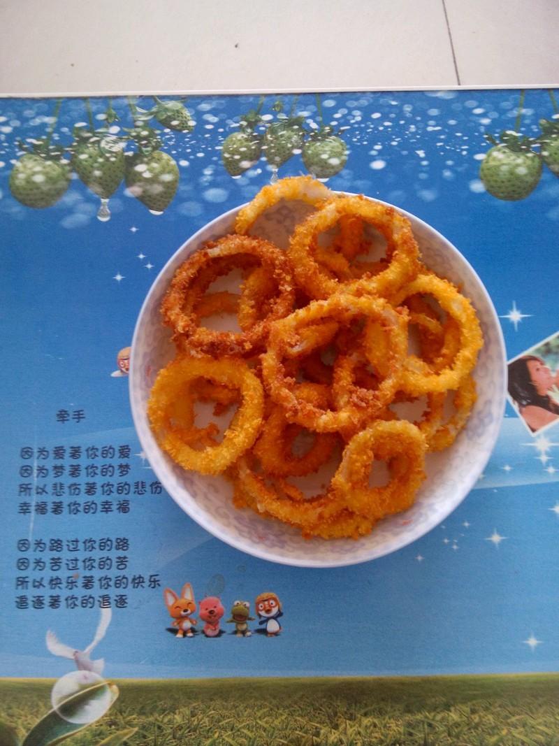 甜咸洋葱圈的做法_【图解】甜咸洋葱圈怎么做好吃_荆