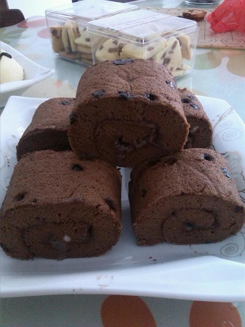 巧克力蛋糕卷的做法_【图解】巧克力蛋糕卷怎么做