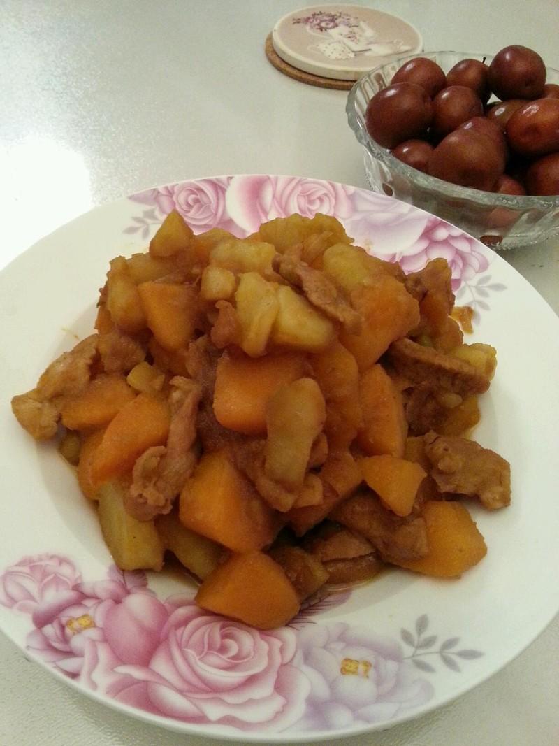 南瓜土豆燉肉的做法_【圖解】南瓜土豆燉肉怎麼做 ...