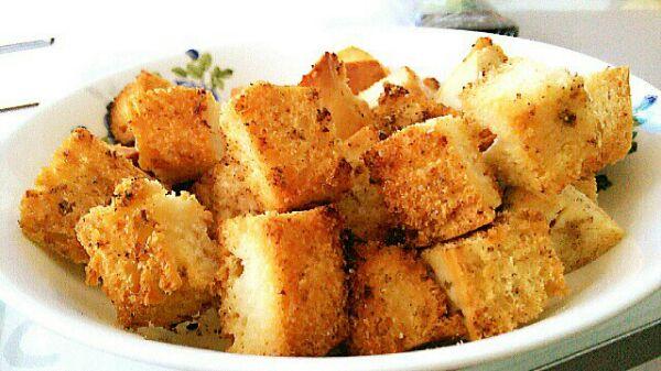 孜然烤馒头粒的做法_【图解】孜然烤馒头粒怎么做好吃