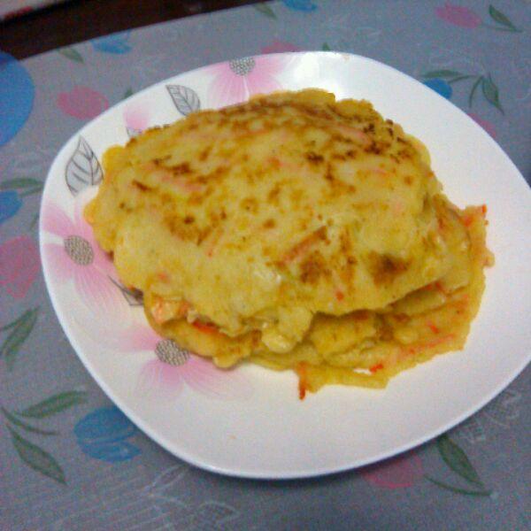 胡萝卜蛋饼的做法_【图解】胡萝卜蛋饼怎么做好吃_.