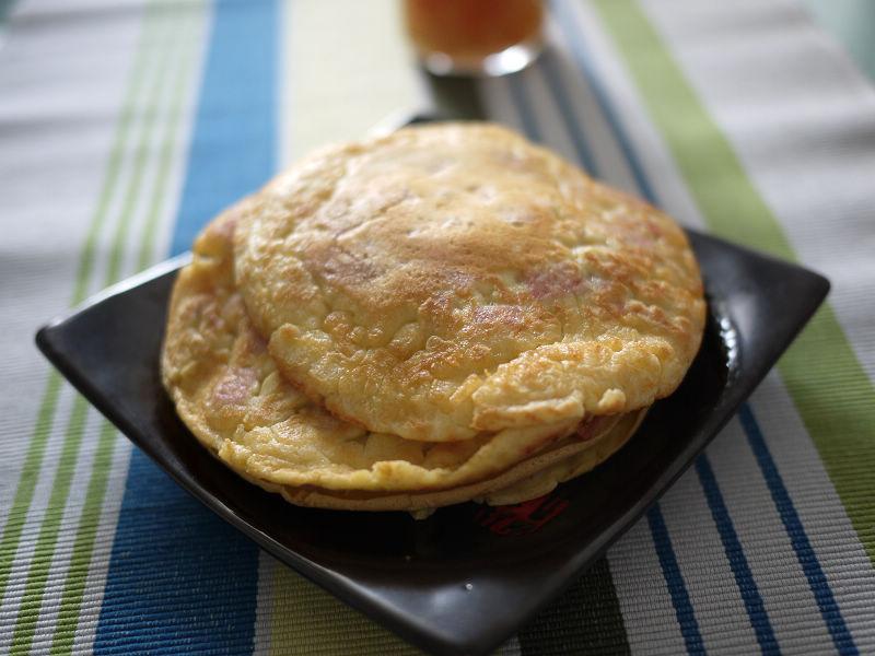 午餐肉煎饼的做法_【图解】午餐肉煎饼怎么做好吃_高