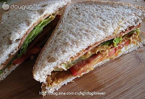 自制营养三明治的做法_【图解】自制营养三明治怎么做