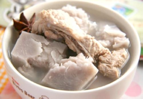 海米冬瓜 蟹黄豆腐 紫薯球 凉拌豆腐 芋头排骨汤 醋溜土豆丝 芋头焖