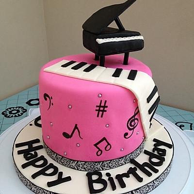 音符简笔画蛋糕