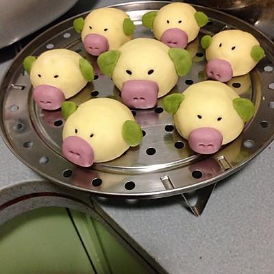 可爱猪猪包的做法_【图解】可爱猪猪包怎么做好吃