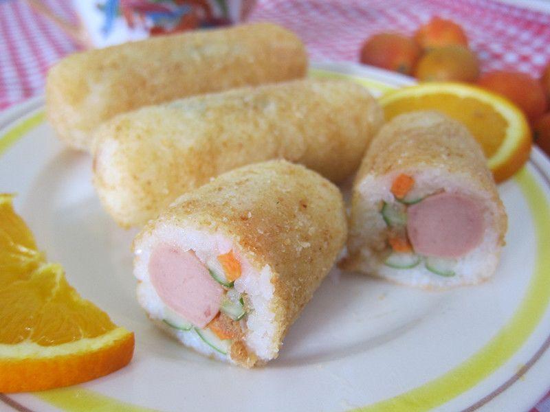 日式炸饭团的做法_【图解】日式炸饭团怎么做好吃