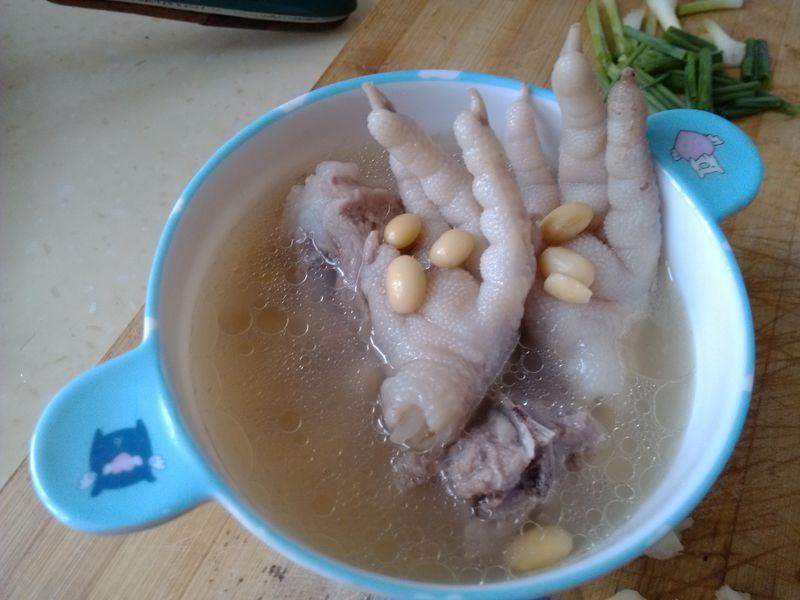 图解 黄豆/黄豆排骨煲鸡脚
