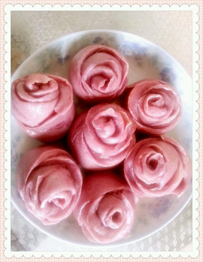 紫薯玫瑰花馒头的做法步骤