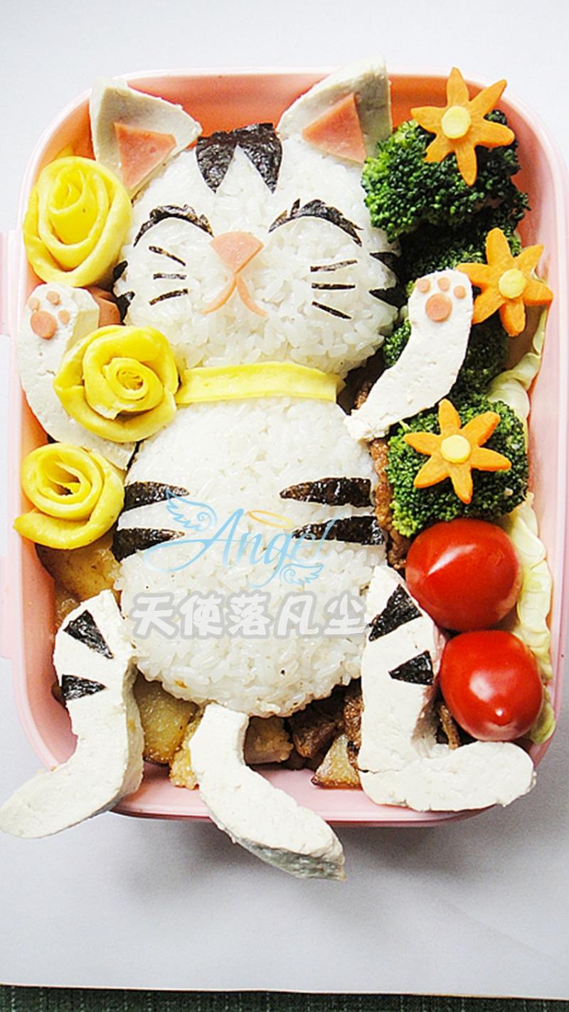 可愛貓咪便當的做法_【圖解】可愛貓咪便當怎麼做 ...