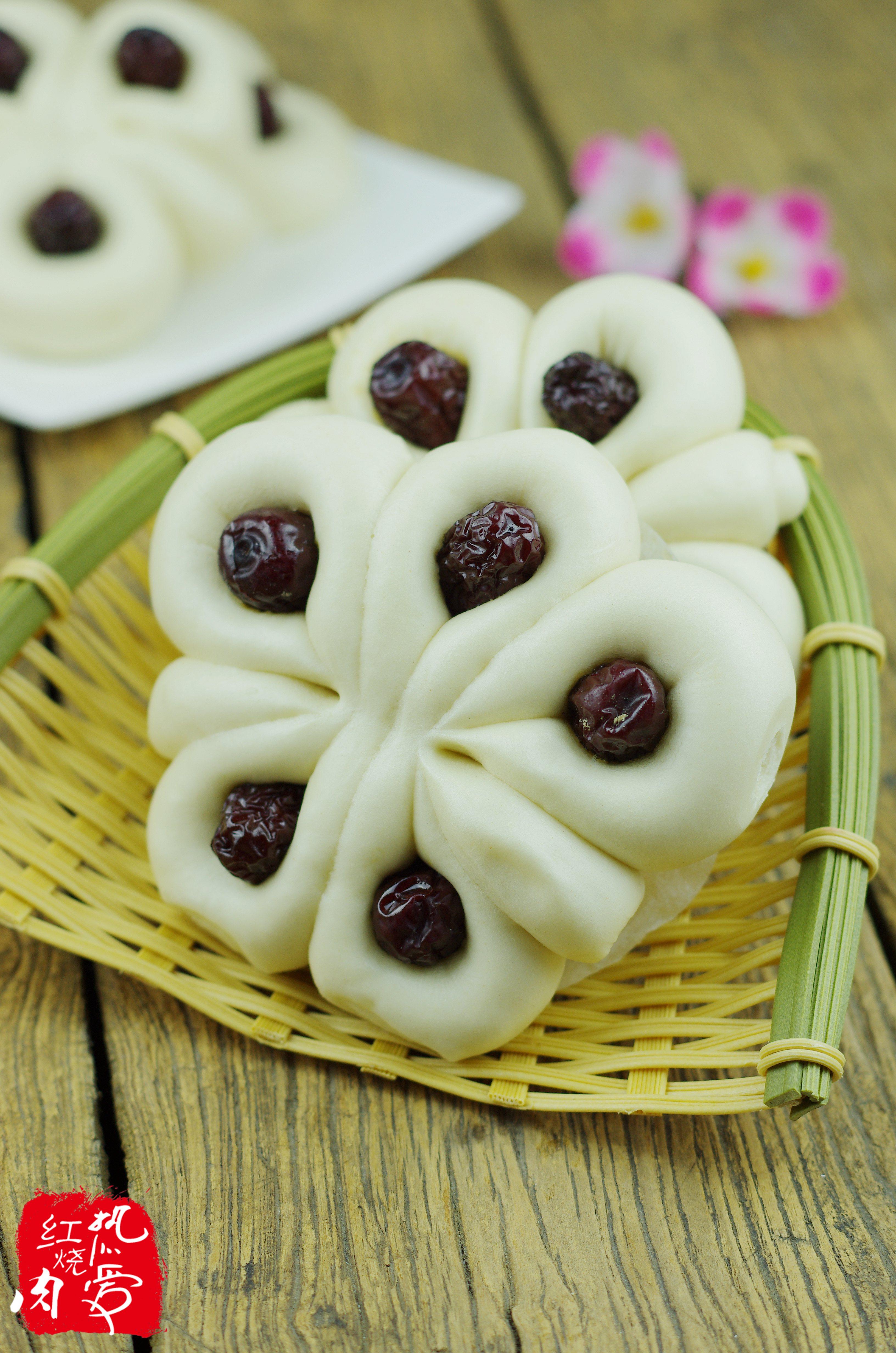 紫薯南瓜馒头 紫薯馒头 可爱兔子馒头 健康美味南瓜红枣.