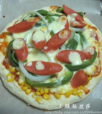 火腿肠披萨的做法步骤