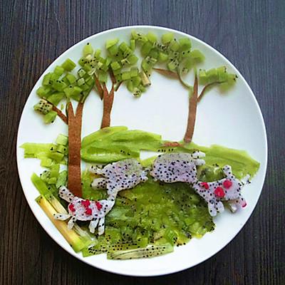 创意水果拼盘——童话的做法图片