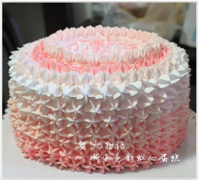 桃花手绘蛋糕卷 彩虹蛋糕(六寸活. 超详细马卡龙烘焙.