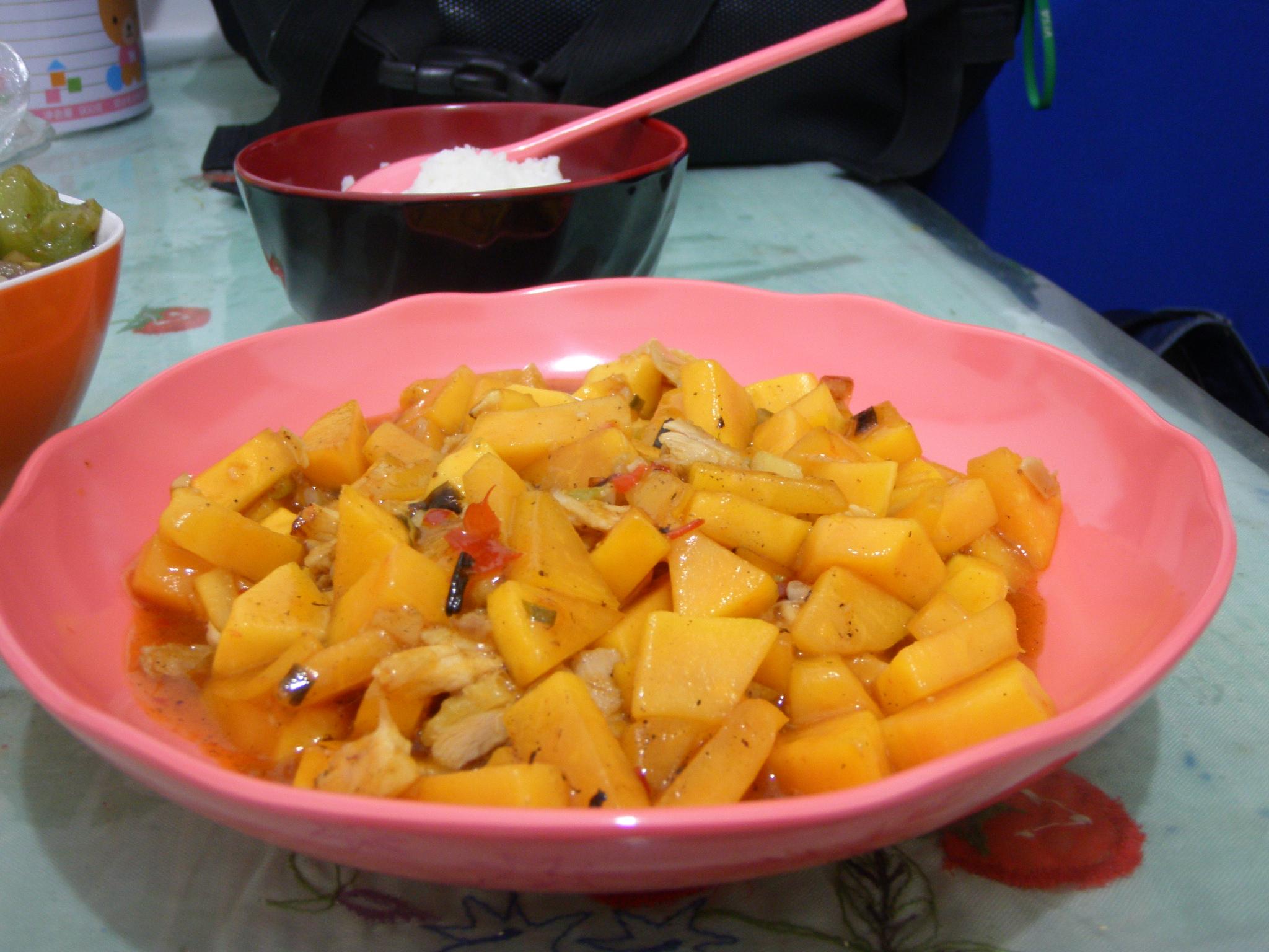 木瓜酿鸡胸的做法_【图解】木瓜酿鸡胸怎么做好吃_车