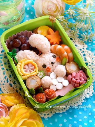 中秋节拜月可爱便当的做法_【图解】中秋节拜月可爱做