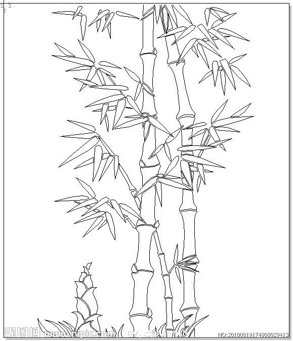 竹子图片简笔画 步骤