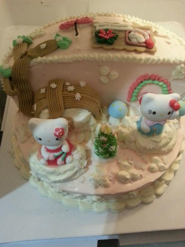 哈喽kt圣诞场景蛋糕