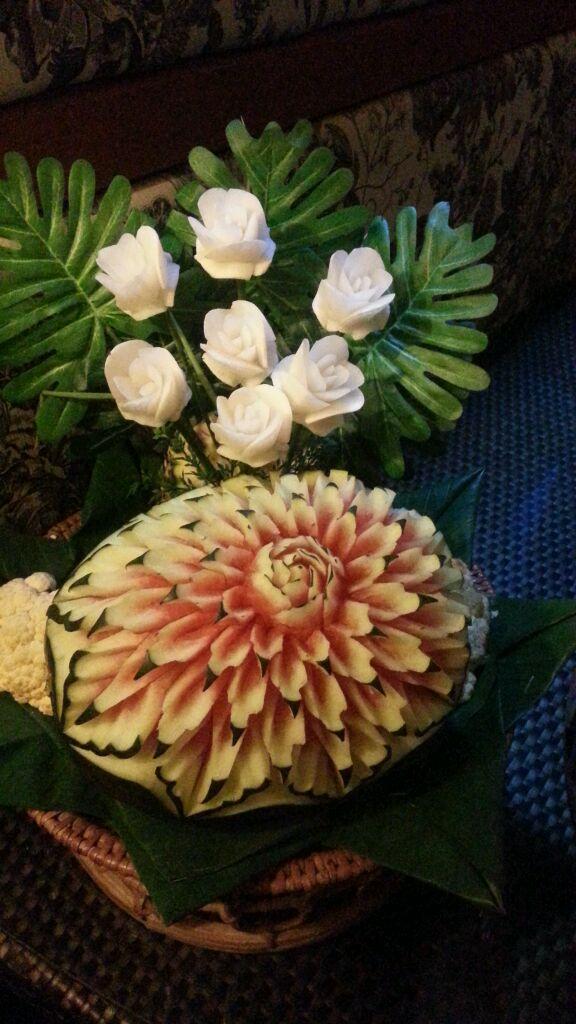 漂亮的西瓜雕花