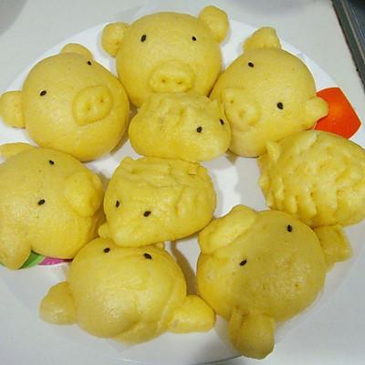 玉米面可爱小动物馒头