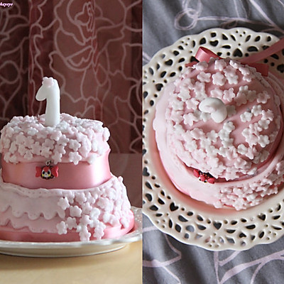 迷你翻糖蛋糕的做法_【图解】迷你翻糖蛋糕怎么做