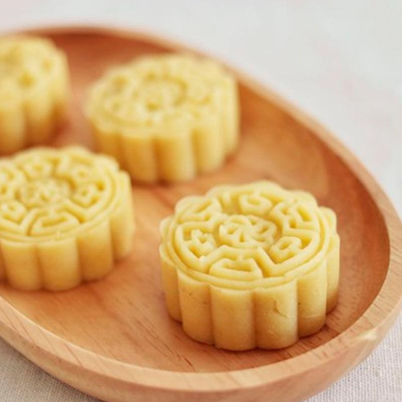 法焙客 圆形冰皮月饼模具手压式烘培月饼模 圆形平面4