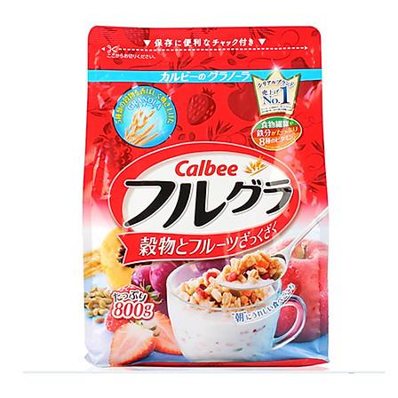 日本Calbee/卡乐比营养早餐水果颗粒果仁谷物800g冲饮麦片